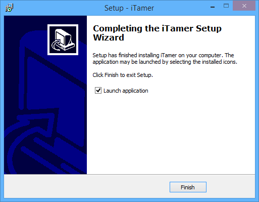 Completing Setup Wizard